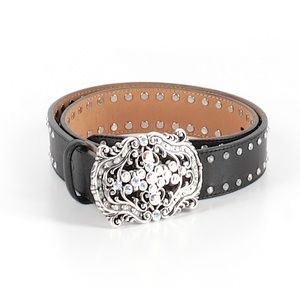 Tony Lama Belt Western Bling Cowgirl Leather